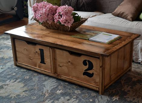 Diy Coffee Table With Hidden Storage Easy DIY Idea