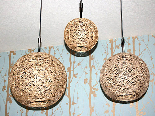 How To Make Hemp Pendant Lamps