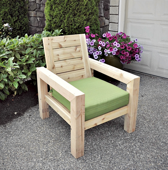 How To Make A Rustic Garden Chair
