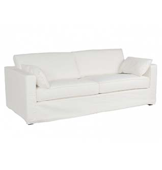 3 seater white sofa