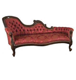 carved chaise longue
