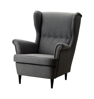winged armchair