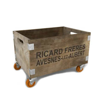 Rustic Box On Wheels