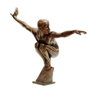Bronze Olympic Man