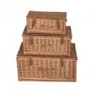 Lidded Wicker Hampers