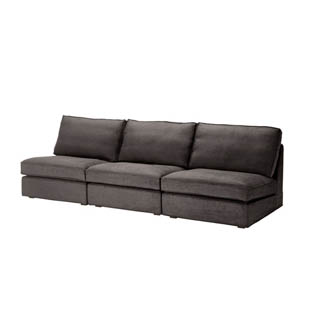 Armless Grey Sofa