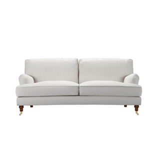 White Fabric Sofa