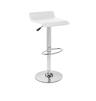 White Hydraulic Bar Stool